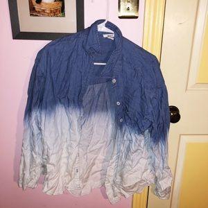 Super cute jean shirt!